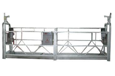 Yuqori qavatli bino qurilishi uchun issiq galvanizli ishlaydigan ishlaydigan zlp630 ishchi platformasi